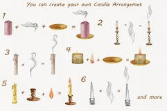 Candles Watercolor Clipart Product Image 3