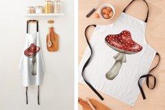 Amanita Mushrooms Watercolor Clipart Product Image 3