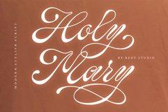 Holy Mary   stylish script Product Image 1