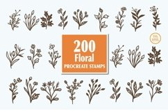 200 Procreate floral stamps