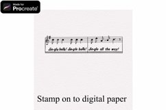 Procreate Vintage Christmas Stamps - 8 stamp brushes Product Image 3