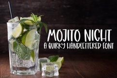 Mojito Night - A Quirky Handlettered Font Product Image 1