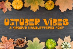 October Vibes - A Groovy Handlettered Font Product Image 1