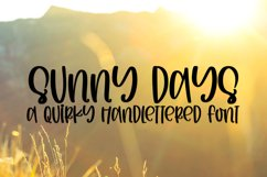 Sunny Days - A Quirky Handlettered Font Product Image 1