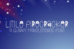 Little Firecracker - A Quirky Handlettered Font Product Image 1