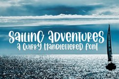 Sailing Vacation - A Quirky Handlettered Font Product Image 1