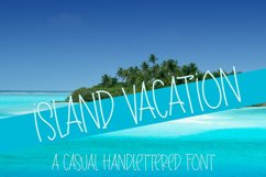 Island Vacation - A Casual Handlettered Font Product Image 1