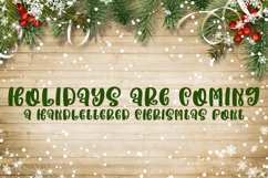 Holidays are Coming - A Handlettered Christmas Font Product Image 1