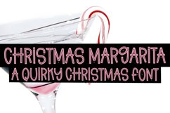 Christmas Margarita - A Quirky Christmas Font Product Image 1