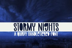 Stormy Nights - A Quirky Handlettered Font Product Image 1