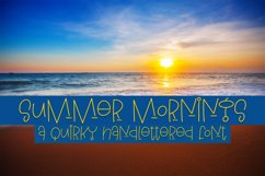 Summer Mornings - A Quirky Handlettered Font Product Image 1