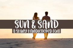 Sun & Sand - A Quirky Handlettered Font Product Image 1