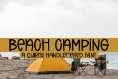 Beach Camping - A Quirky Handlettered Font Product Image 1