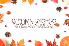 Autumn Wishes - A Quirky Handlettered Font Product Image 1
