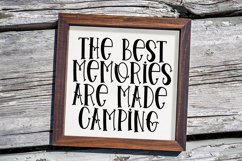 Tent Camping - A Quirky Handlettered Font Product Image 4