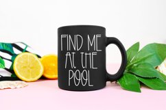 Pool Time - A Quirky Handlettered Font Product Image 2