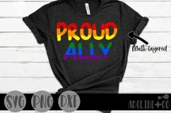 Proud Ally   Pride, LGBTQ, SVG, PNG, DXF Product Image 1