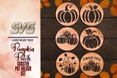 Pumpkin Patch Coaster Set SVG Glowforge Files Bundle Product Image 2