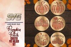 Pumpkin Patch Coaster Set SVG Glowforge Files Bundle Product Image 3