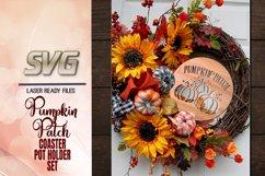 Pumpkin Patch Coaster Set SVG Glowforge Files Bundle Product Image 4