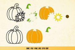 Pumpkin Sunflower SVG,Pumpkin Fall Clipart,Pumpkin Papercut Product Image 2