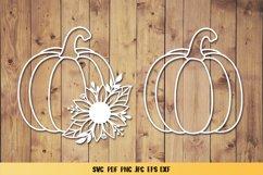 Pumpkin Sunflower SVG,Pumpkin Fall Clipart,Pumpkin Papercut Product Image 3