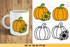 Pumpkin Sunflower SVG,Pumpkin Fall Clipart,Pumpkin Papercut Product Image 1
