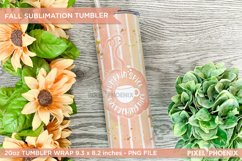 Pumpkin Spice Sublimation Wrap for skinny tumbler in warm colours