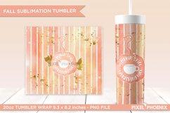 Pumpkin Spice skinny tumbler Wrap for sublimation