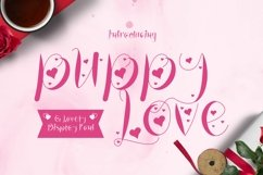 Web Font Puppy Love Font Product Image 1