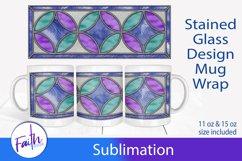 Mug Wrap Stained Glass Sublimation Product Image 1
