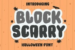Block Scarry - Halloween Font Product Image 1