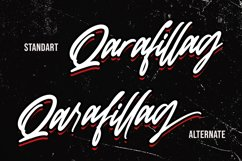 Qarafillag Script Authentic Handcrafted Font Product Image 4