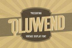 Web Font Qluwend - Vintage Display Font Product Image 1