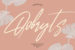 Qobryts Signatue Font Product Image 1