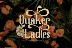 Quaker Ladies - Decorative Classic Font Product Image 1