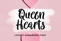 Web Font Queen Hearts - Lovely Handrawn Font Product Image 1