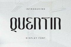 Web Font Quentin Font Product Image 1