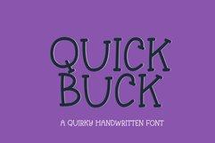 Quick Buck - a playful handwritten font Product Image 1
