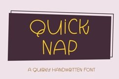 Web Font Quick Nap - a quirky handwritten font Product Image 1