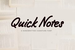 Web Font Quick Notes - a handwritten signature font Product Image 1
