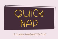 Quick Nap - a quirky handwritten font Product Image 1