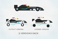 Race car svg bundle - racing car -sprint car svg png eps dxf Product Image 2