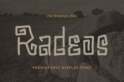 Web Font Radeos Font Product Image 1