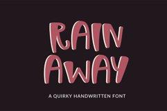 Rain Away - a quirky handwritten font Product Image 1