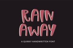 Web Font Rain Away - a quirky handwritten font Product Image 1