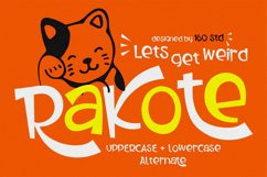 Rakote - Fun and Strong Font Product Image 1