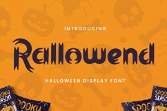 Rallowend - A Halloween Font Product Image 1