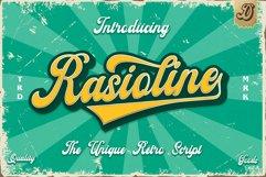 Rasioline unique retro font Product Image 1