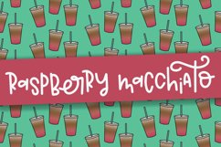 Raspberry Macchiato a Hand Lettered Font Product Image 1
